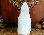 "4"" Raw Selenite Tower, Selenite Crystal, Selenite, Gypsum ~1306"