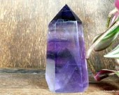 Purple Fluorite Crystal Tower ~1825