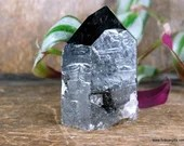 Black Smoky Quartz Tower, Raw Smoky Quartz with Polished Point, Black Smoky Quartz Tower, Crystal Tower ~1872