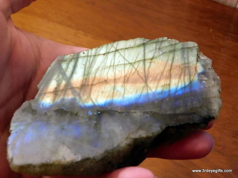 Blue and Gold Labradorite...