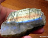 Labradorite Reiki Crystals Blue and Gold Labradorite Crystal, Labradorite Slab  ~1679