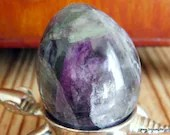 Rainbow Fluorite Crystal Egg ~1372