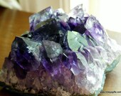 Amethyst Crystal for Stress Relief, Amethyst Geode ~1517
