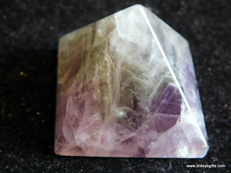 Rainbow Fluorite Pyramid,...