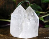 Twin Point Clear Quartz Crystal Tower, Quartz Crystal Point ~1984