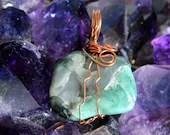 Natural Raw Emerald Penda...