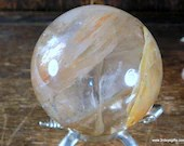 Yellow Fire Quartz Sphere, Hematoid Quartz Crystal ~1839