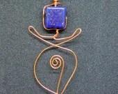 Lapis Lazuli Goddess Pend...