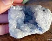 Celestite Crystal, Celestite Geode, Third Eye Crystal, Ice Blue Crystal, Prophetic Dreams, Geode Crystals ~2120