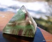 Rainbow Fluorite Pyramid, Pyramid, Fluorite, Purple and Green Fluorite ~1376