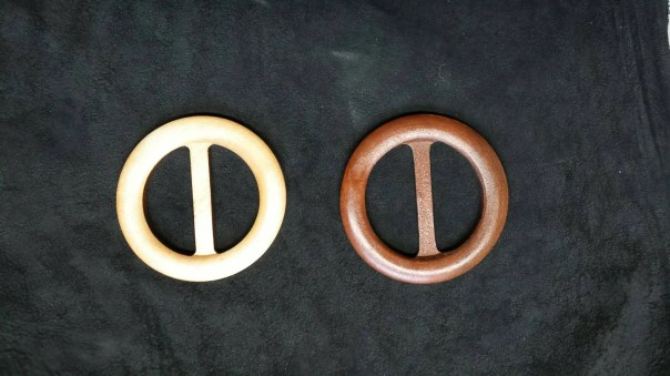 "Wood Scarf Slide, Shawl Clip, Handcrafted, Hand sanded for smoothness, 3"" diameter, Dark or Light Wood Finish, Belt Buckle, Belt Slide"