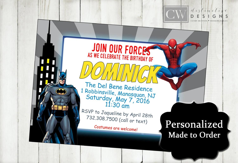 batman superhero birthday party