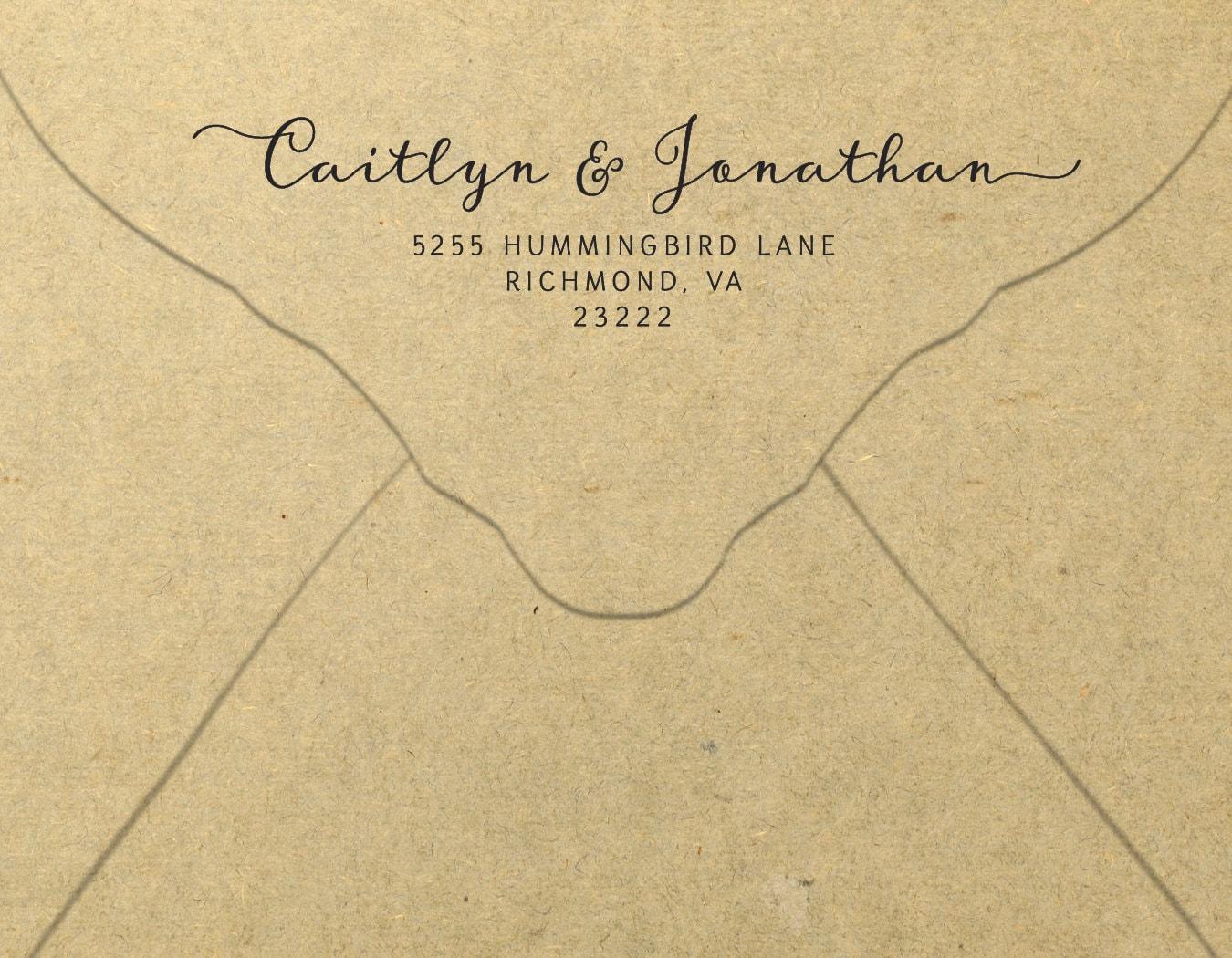 Printable Return Address Envelope Diy Stationery Template