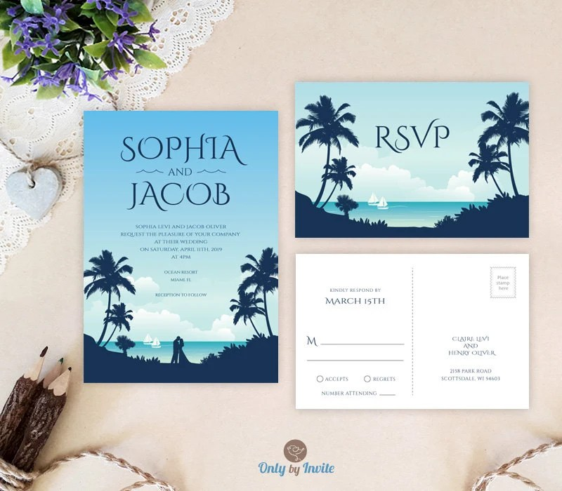 Cheap Wedding Invitations And Rsvp Postcards