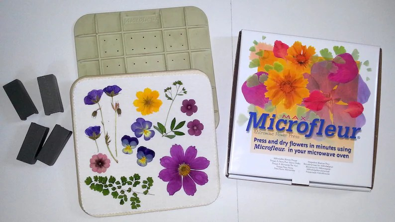 microwave flower press microfleur 9 x 9 gift for mom