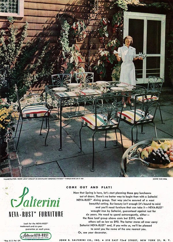 salterini patio set pick up only or buyer arranges shipping etsy