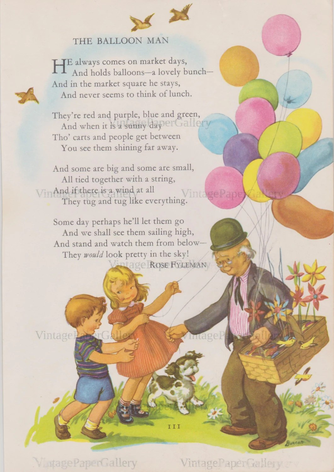 Balloon Man Download Mother Goose Nursery Rhyme Instant