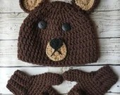 Child bear hat & mitten s...