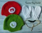 Crochet Mario and Luigi h...