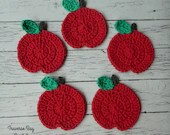 Crochet apple coasters Pa...