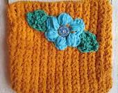 Crochet pattern flower crossbody bag zip purse puff PDF Instant Download gift present