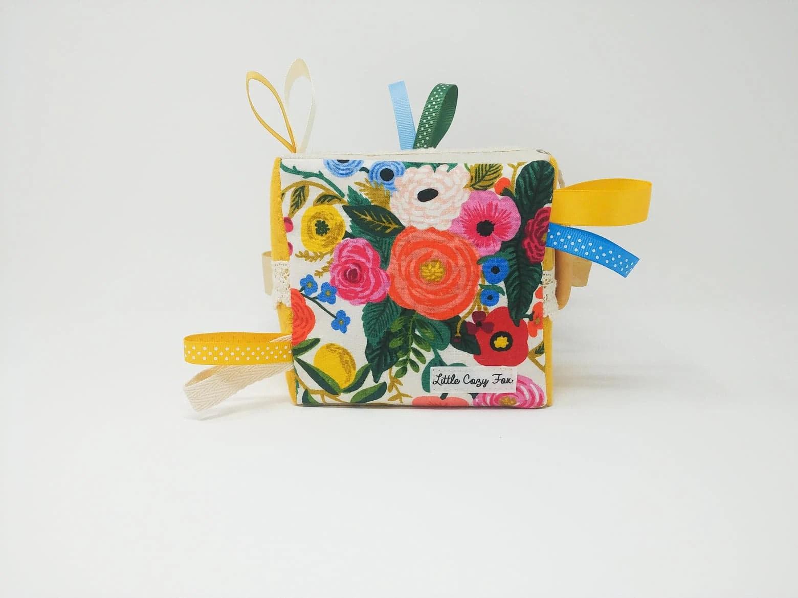 Baby girl gift-Baby shower gift-Baby block-Soft baby image 2