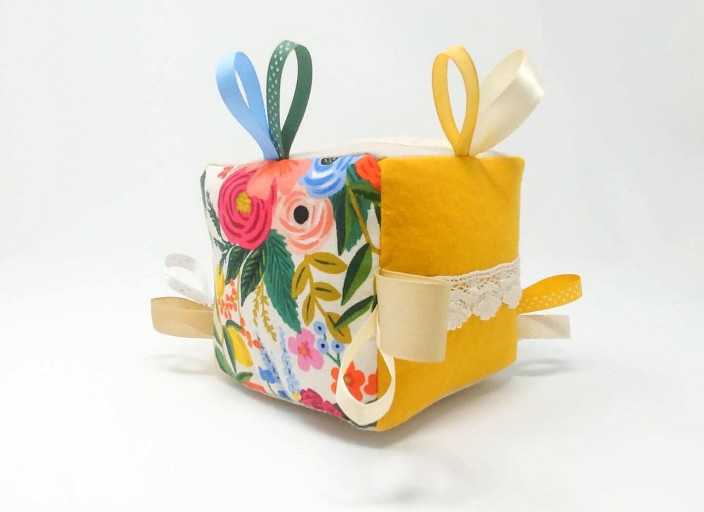 Baby girl gift-Baby shower gift-Baby block-Soft baby image 4