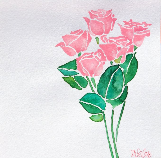 A Bunch of Pink Roses