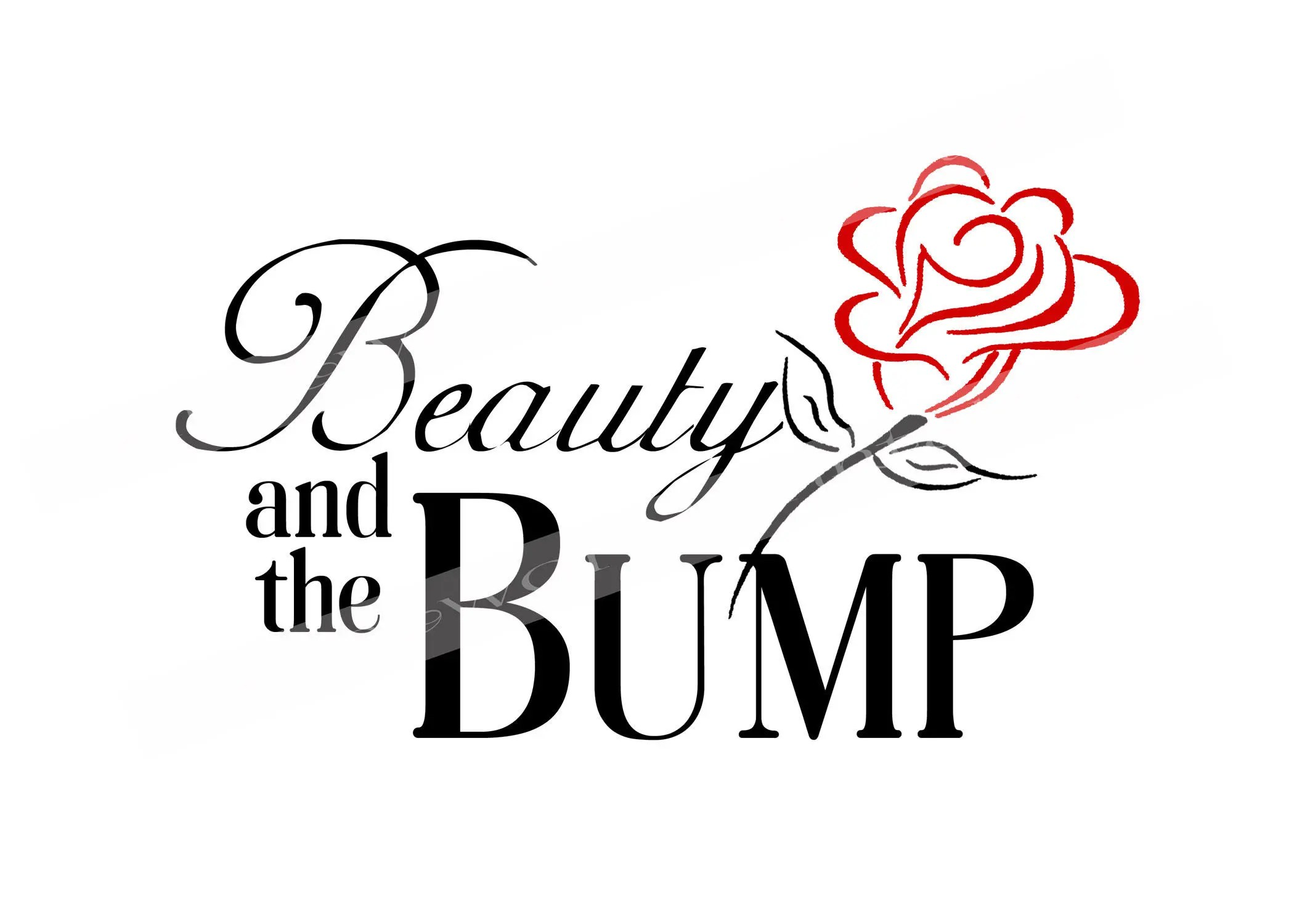 Beauty And The Bump Iron On For Maternity Shirt Printable