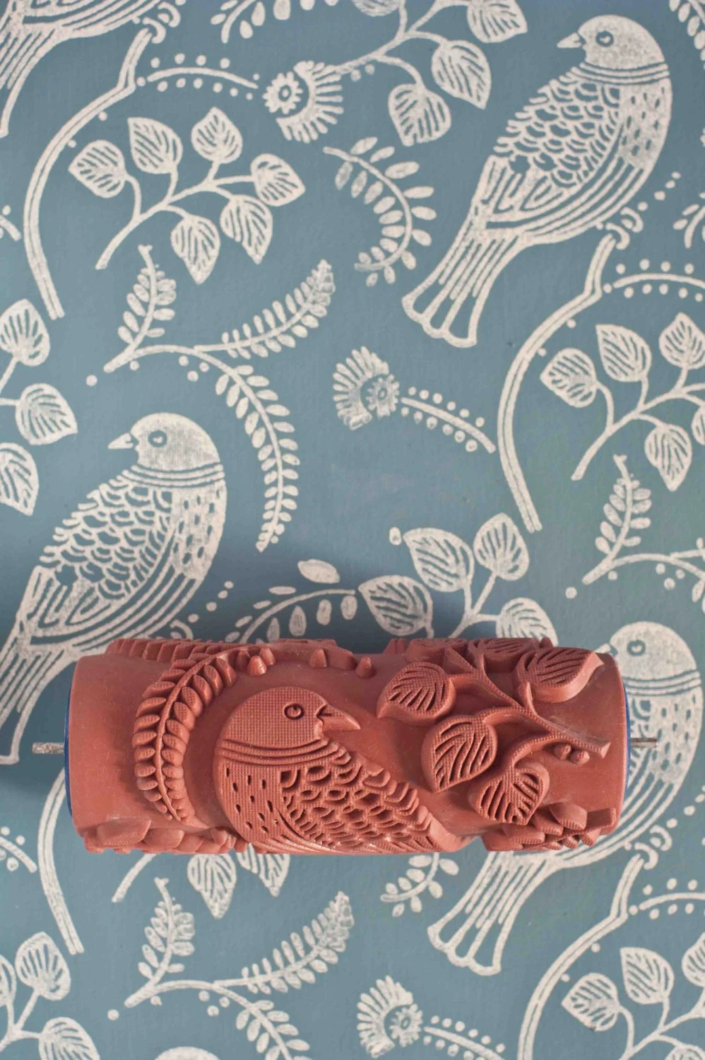 Tuvi patterned paint roller from The Painted House   Etsy image 0
