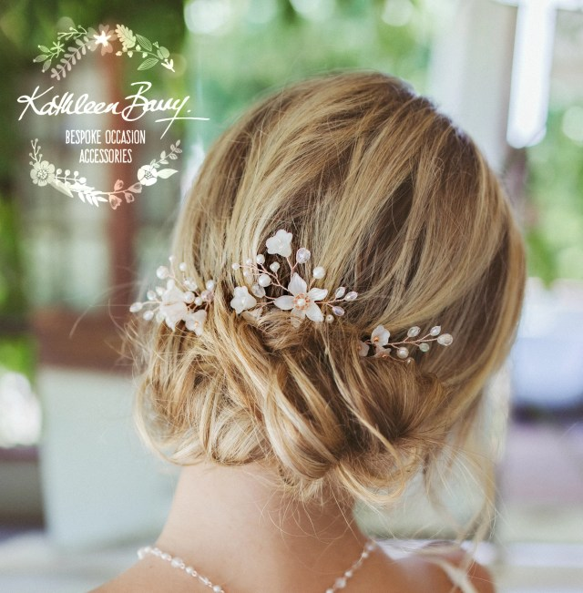 hair pins mix & match - 3 styles - rose gold, gold or silver (sold individually) style : monica