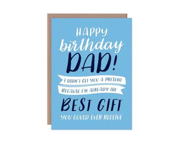 Funny Birthday Card Card For Dad Happy Birthday Dad I Etsy