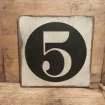 Gallery Wall Number Sign Family Number Sign Custom