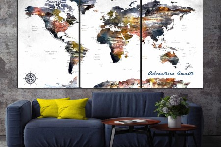World map canvas australia path decorations pictures full path map canvas wall art picture sydney australia world map art canvas prints australia home map art world map art previous the world map canvas print wall gumiabroncs Images