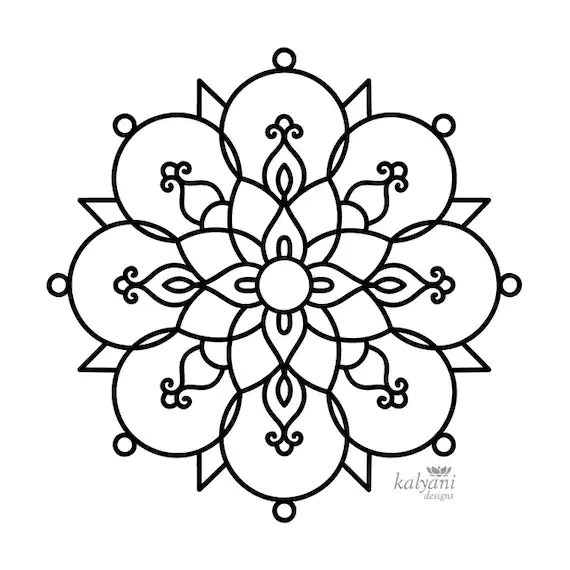 rangoli coloring pages # 6