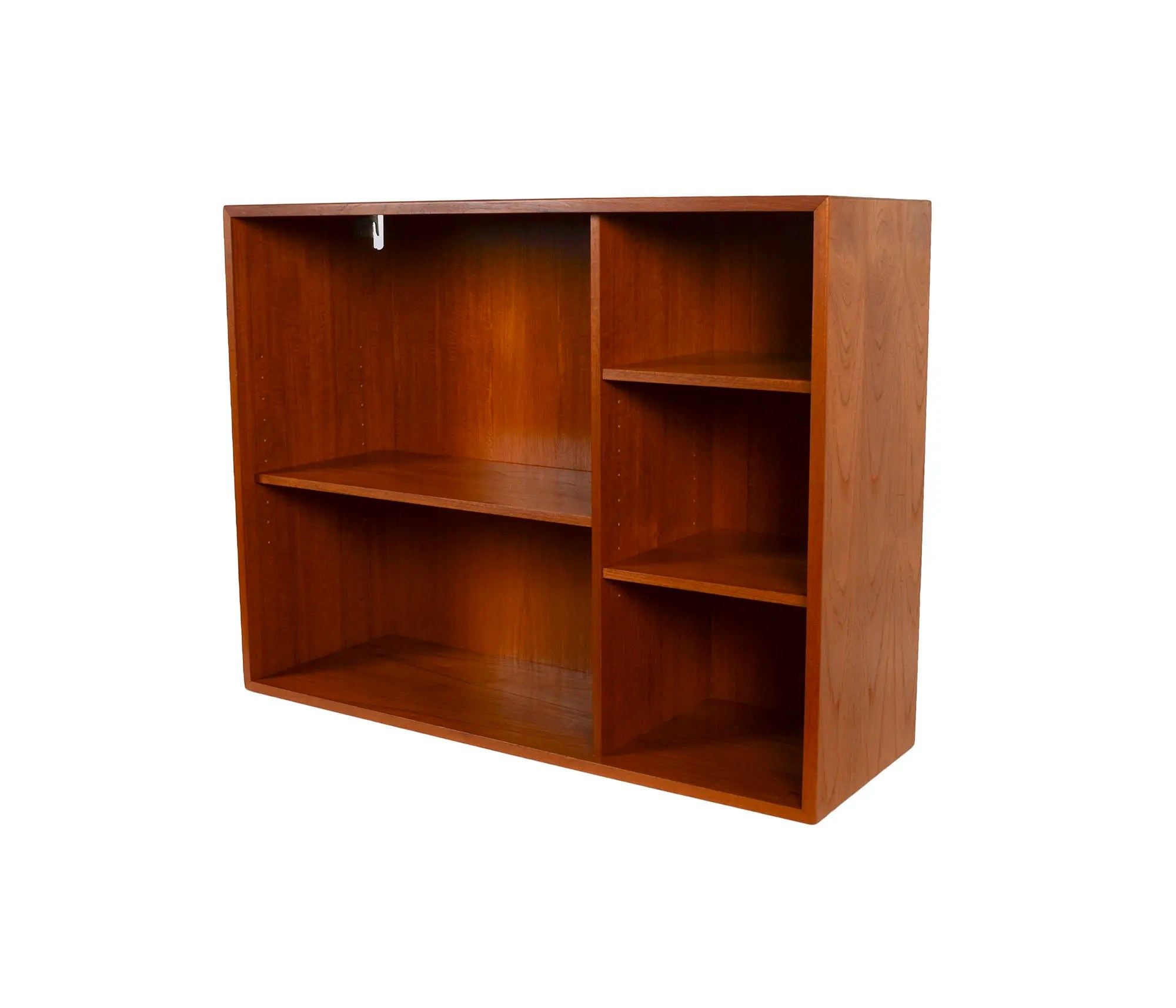 Danish Modern Teak Bookcase Wall Unit Floating Cabinet By Hg Furniture Hansen Guldborg
