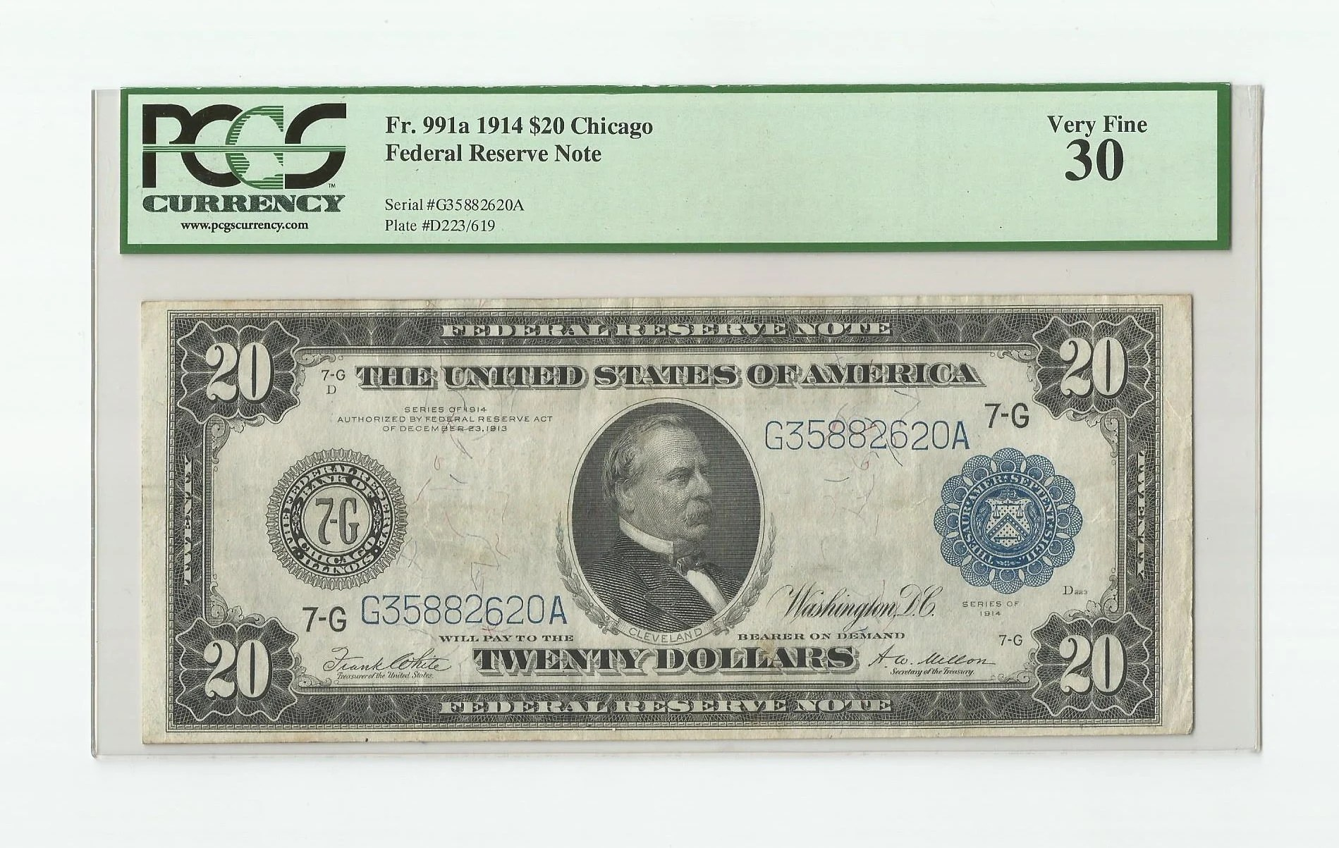 Us 20 Dollar Bill Currency Federal Reserve Note