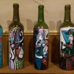 Glass Anniversary Picasso Glass Anniversary Painted Wine Bottles Wine Decor Van Gogh Starry Night Wine Art Wife Gift Hostess