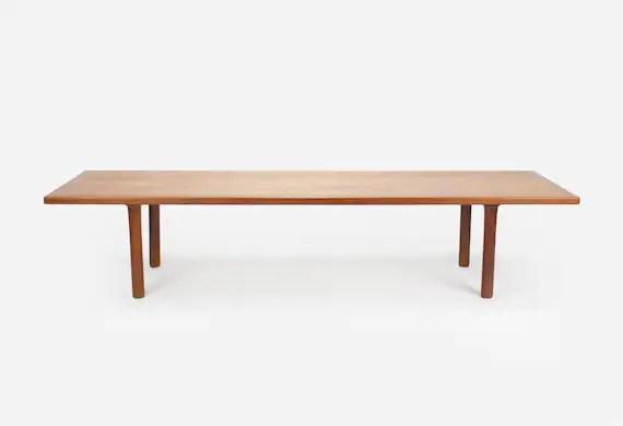 danish modern teak bench coffee table by hans wegner
