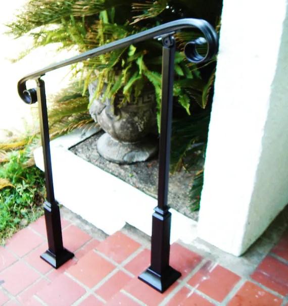6 Ft Wrought Iron Handrail Step Rail Stair Rail With Etsy | Decorative Wrought Iron Handrail | Forged Iron | Interior | Classic | Ornamental | Steel