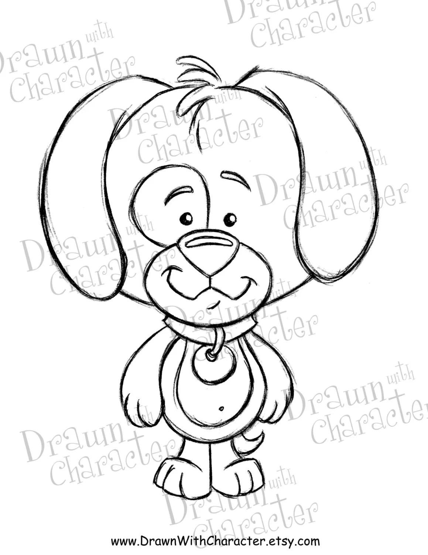 Puppy Dog Digital Stamp Kopykake Image S15 Pupfbb