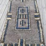 Amazing Grey Blue Retro Modern Midcentury Wool Rug Carpet Teppich