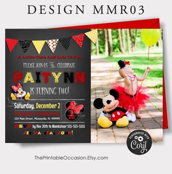 editable red minnie mouse invitation