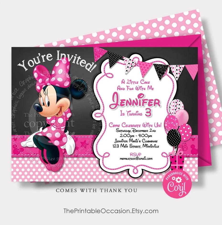editable minnie mouse birthday invitation template minnie mouse invitation pink instant download corjl second third birthday mmpb mmflp