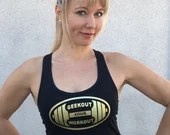 Geekout Your Workout Glitter Logo Tank