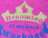 Dreaming of my next Workout- Princess Aurora Sleeping Beauty Tank! PINK OR BLUE