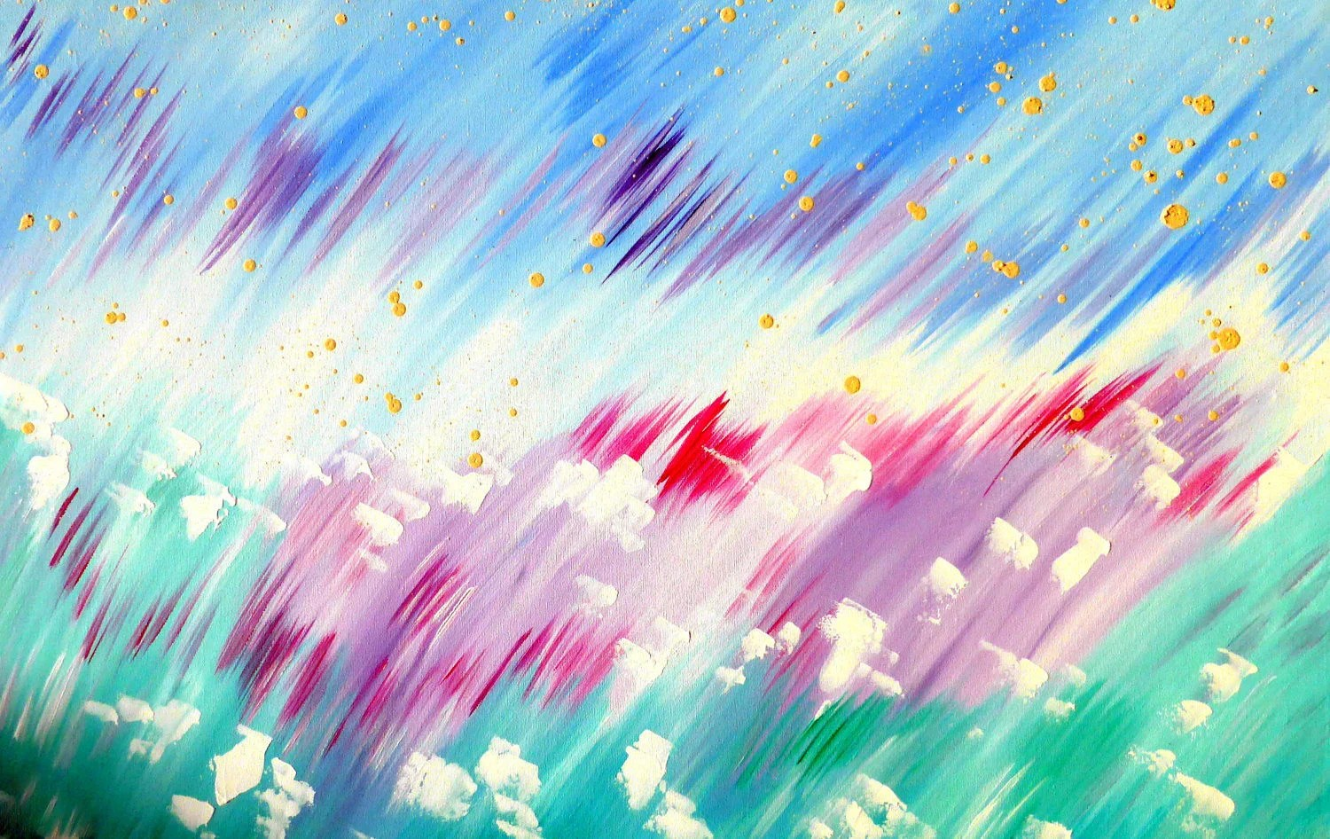 Pink And Green Abstract Painting Abstract Paintings Pastel