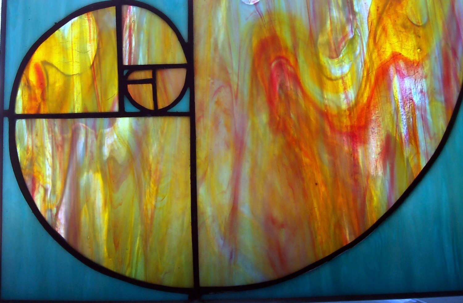 Stained Glass Fibonacci Spiral Golden Ratio Nature S