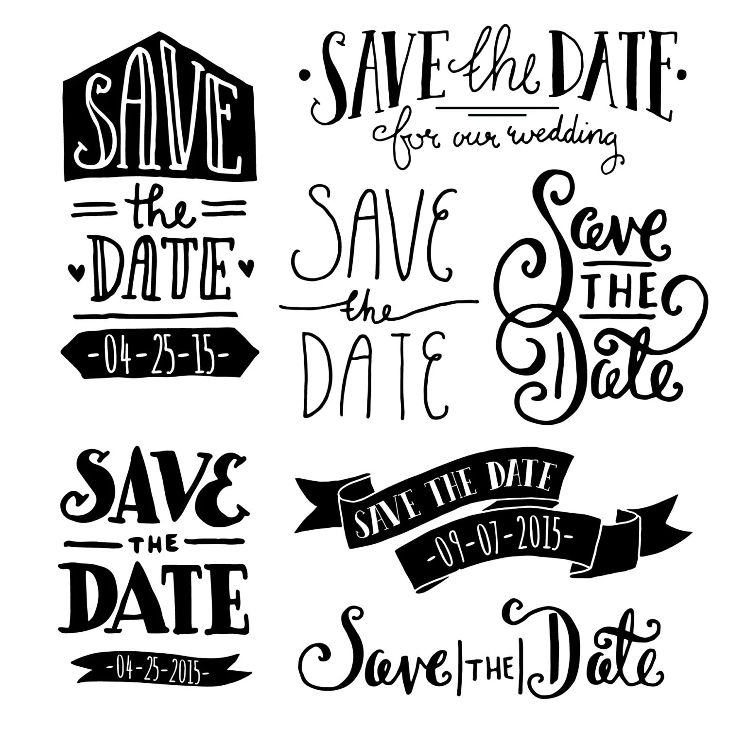 Save The Date Clip Art Photoshop Psd Editable Vector