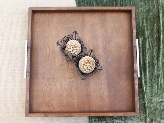 tray 30 x30 horizon handcrafted rustic wood ottoman tray 2xl xx extra large decorative tray gift tray serving tray farmhouse